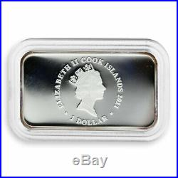 Cook Islands, 1 dollar Year of the Rabbit, Lunar, Grey, silver proof coin, 2011