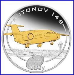 Cook Islands 2008 $1 Antonov An Aeroplanes 5 x 1 Oz Gilded Silver Proof Coin Set