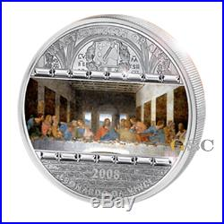 Cook Islands 2008 20$ Last Supper Masterpieces of Art 3oz. Fine 999 silver coin