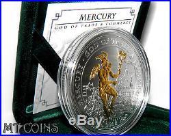Cook Islands 2008 MERCURY GOD OF TRADE & COMMERCE 2 Oz Silver Coin rare