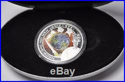 Cook Islands 2009 1969 $1 First Man On The Moon 1 Oz Silver Orbital Coin Proof