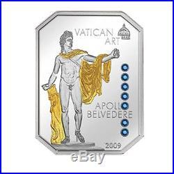 Cook Islands 2009-2011 4x5$ Vatican Art 4 Silver Coin Set