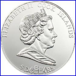 Cook Islands 2009 $5 Ferrari F2008 Carbon Formula 1 25g Silver Proof Coin RARE