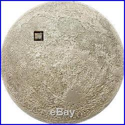 Cook Islands 2009 5$ MOON Lunar Proof Silver Coin Real Meteorite Insert