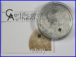 Cook Islands 2009 Moon Lunar Meteorite 40th & 50th Anniversary $5 Silver Coin