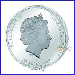 Cook Islands 2010 20$ Vitruvian Man Masterpieces of Art Premium silver gold coin