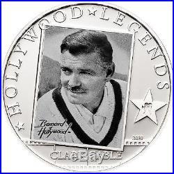Cook Islands 2010 5$ Hollywood Legends 25g Silver Coin Clark Gabel MINTAGE 2500