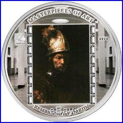 Cook Islands 2010 Masterpieces of Art Rembrandt Van Rijn 3 Oz Silver Proof Coin