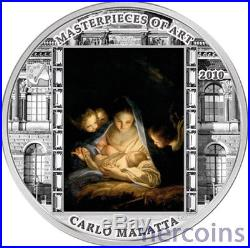 Cook Islands 2010 The Holy Night by Carlo Maratta $20 Pure Silver Proof Coin