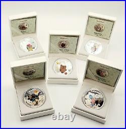 Cook Islands 2011Soyuzmultfilm Winnie-the-Pooh 5 x 1 oz Silver Proof UC Coins