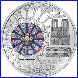 Cook Islands 2011 10$ Notre Dame de Paris Windows Of Heaven Silver Proof Coin