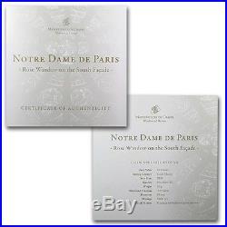 Cook Islands 2011 10$ Windows of Heaven Notre Dame Paris Silver Coin 2