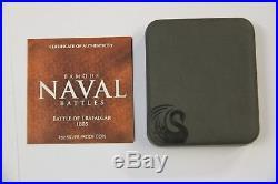 Cook Islands 2011 $1 Famous Naval Battles Trafalgar 1 Oz Silver Proof Coin