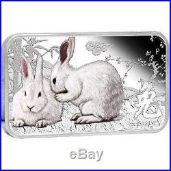 Cook Islands 2011 1$ Year of the Rabbit Lunar Calendar 4 x 1Oz Silver Coin Set