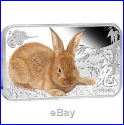 Cook Islands 2011 $1 Year of the Rabbit Lunar Calendar 4 x 1Oz Silver Coin Set