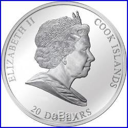 Cook Islands 2011 20$ Masterpieces of Art FRANZ MARC BLUE HORSE 3 Oz Silver Coin