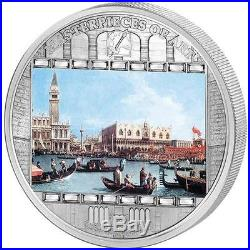 Cook Islands 2011 20$ Masterpieces of Art GIOVANNI CANALETTO 3Oz Silver Coin