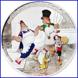 Cook Islands 2011 25$ Soyuzmultfilm Malish and Karlsson 5oz Silver Coin