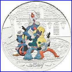 Cook Islands 2011 $5 Cartoon Town Musicians of Bremen Musicians 1 Oz Silver Coin
