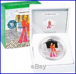 Cook Islands 2011 $5 Cartoon Town Musicians of Bremen The Couple 1Oz Silver Coin