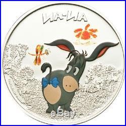 Cook Islands 2011 $5 Cartoon Winnie Pooh Eeyore (Ia-Ia) 1 Oz Silver Coin LIMITED