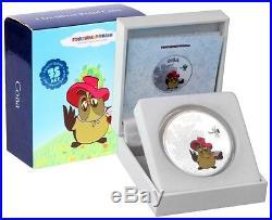 Cook Islands 2011 $5 Cartoon Winnie Pooh Owl 1Oz Silver Coin LIMIT 2000