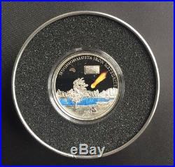 Cook Islands 2011 5$ MUONIONALUSTA METEORITE Proof Silver Coin