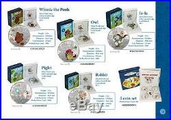 Cook Islands 2011 $5 Soyuzmultfilm Winnie-the-Pooh Piglet 1 Oz Silver Proof Coin