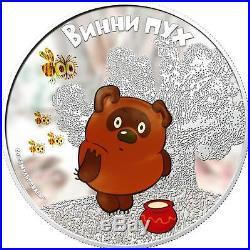 Cook Islands 2011 $5 Soyuzmultfilm Winnie-the-Pooh Winnie 1 Oz Silver Proof Coin