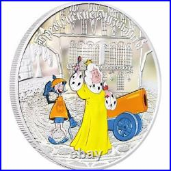 Cook Islands 2011 5x 5 $ Town Musicians of Bremen 5x1Oz Limited Silver Coins Set