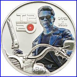 Cook Islands 2011 TERMINATOR Judgment Day 3 Coin Set Large Silver Proof 5$ -Box
