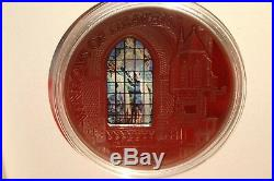 Cook Islands 2012 10$ Windows of Heaven Church Of St. Francis Cracow Silver Coin