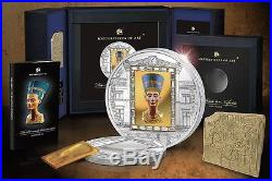 Cook Islands 2012 20$ Masterpieces Of Art The Bust Of Nefertiti Silver Coin