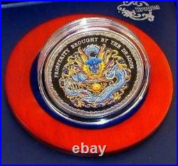 Cook Islands 2012 $5 Prosperity brought by the Dragon Blue 1oz Silver Coin