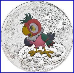 Cook Islands 2012 5$ Return of Prodigal Parrot Kesha 1Oz Silver Coin MINTAGE1000