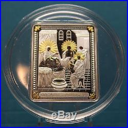 Cook Islands 2012 Nativity of Blessed Virgin Mary $5 Silver Proof Coin G-plated