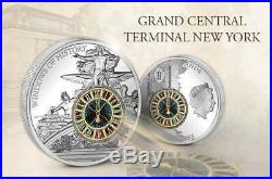 Cook Islands 2013 $10 WINDOWS OF HISTORY Grand Central Terminal New York Coin