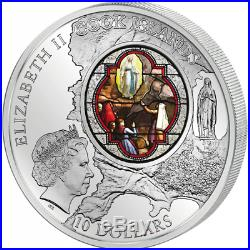 Cook Islands 2013 10$ Windows Of Heaven Lourdes Sanctuary Silver Coin 9