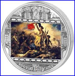 Cook Islands 2013 20$ DELACROIX Eugene Liberty Leading People 3 Oz Silver Coin