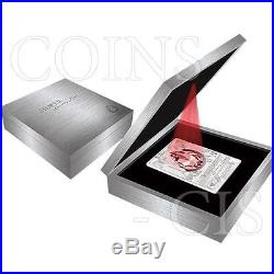 Cook Islands 2013 20$ Silver Luxury Line White 100g Proof Ag Coin withSwarovski