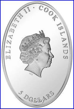 Cook Islands 2013 $5 ALABASTER WINDOW Weltfrieden Gold Gilded Silver Coin