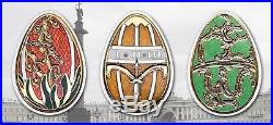 Cook Islands 2013 $5 Imperial Egg Cloisonné Easter Beauty in Olive Silver Coin