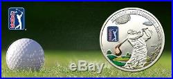 Cook Islands 2013 $5 PGA TOUR Golf Club 20g Silver Proof Coin with Inlay