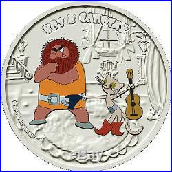 Cook Islands 2013 Cartoon Soyuzmultfilm Puss in Boots 1oz Silver Coin LIMIT 1000
