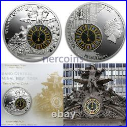 Cook Islands 2013 Grand Central Station 2 Oz $10 Proof Silver Coin Glass Insert
