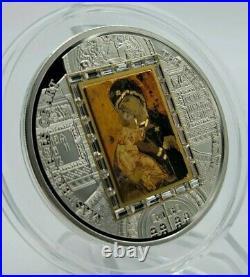 Cook Islands 2013 Masterpieces of Art Virgin of Vladimir Silver & Gold Coin
