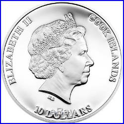 Cook Islands 2014 $10 Nano Sea Dive into the Blue Planet 50g Silver Proof Coin
