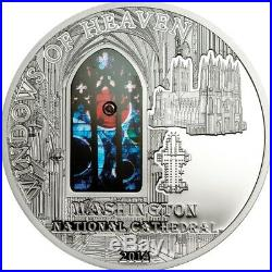 Cook Islands 2014 10$ Windows Of Heaven Washington National Cathedra Silver Coin