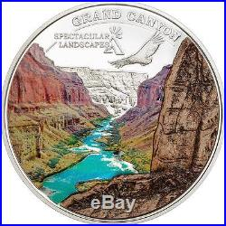 Cook Islands 2014 $5 Spectacular Landscapes GRAND CANYON 20g Silver Coin