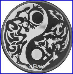 Cook Islands 2014 Predator Prey $5 Wolf Caribou 1 Oz Silver Proof Coin Palladium
